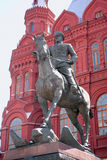 Zhukov monument. Red Square. Moscow Royalty Free Stock Images