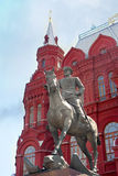 Zhukov monument. Red Square. Moscow Royalty Free Stock Image