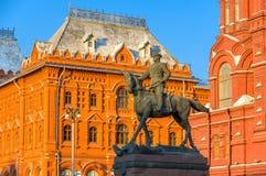 Zhukov Pamiątkowa statua w Moskwa Fotografia Royalty Free