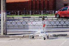 Zhukovskiy Ryssland - Maj 02, 2017: Redaktörs- bruk endast stroller Royaltyfri Fotografi