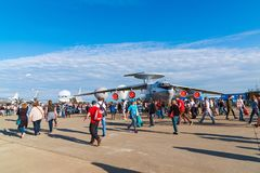 Zhukovsky, Russland - 24. Juli 2017 Beriev A-50 ist von den Sowjets erbauter zerstreuter Warnung und Kontrollsystem AWACS an der  Lizenzfreie Stockbilder