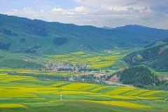 Zhuoer góry sceneria zdjęcia stock