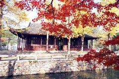 zhuozhengyuan的庭院 免版税库存图片