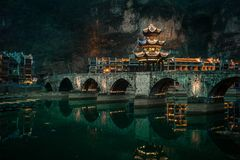 Zhusheng-Brücke, Zhenyuan-Stadt, Guizhou, China stockfotos