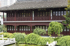 Zhuyue storied house Beside the pond Royalty Free Stock Photo