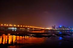 Zhuzhou city. China Hunan Zhuzhou city at night Stock Image