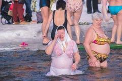 Zhytomyr, Ουκρανία - 19 Ιανουαρίου 2016: Εορτασμός ανθρώπων epiphany Στοκ Εικόνες