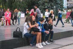 Zhytomyr, Ουκρανία - 15 Σεπτεμβρίου 2015: Θεάματα στο φεστιβάλ μουσικής των ορχηστρών πνευστ0ών από χαλκό παιδιών ` s Στοκ φωτογραφία με δικαίωμα ελεύθερης χρήσης