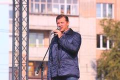 Zhytomyr, de Oekraïne - Mei 20, 2015: Behoeften van ondernemers door leider van de Radicale Partij Oleg Lyashko worden gesteund d Stock Fotografie