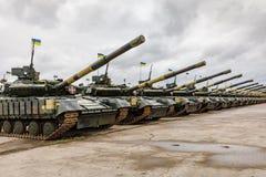 Armed Forces of Ukraine. ZHYTOMYR Reg, UKRAINE - Oct. 14, 2017: Combat training of the Armed Forces of Ukraine in the training center of Zhytomyr region Royalty Free Stock Photo
