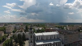 ZHYTOMYR St John de Dukla Roman Catholic Church en Ukraine, diocèse de Kyiv-Zhytomyr banque de vidéos