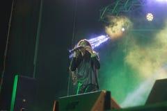 Zhytomyr, Ucrania - 2 de septiembre de 2016: El ganador de salida Ruslana 2004 en el concierto en Zhytomyr, Ucrania foto de archivo libre de regalías