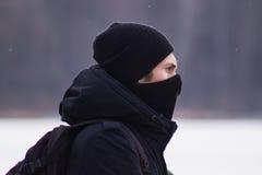 Zhytomyr Ukraina - Januari 19, 2016: Extremist som är klar för kamp Arkivbild