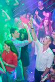 Zhytomyr, UKRAINE - August 25, 2015: Young people dancing at party Stock Photo