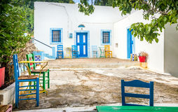 Zia village at Kos island Stock Photos