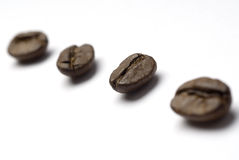 ziarna kawy przekątna Zdjęcia Royalty Free