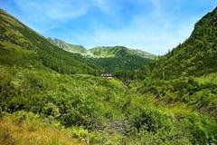 Ziarska谷的谷的一个宏伟的视图 库存照片