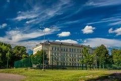 Ziburys gymnasium. Prienai Ziburys gimnasium (school) Lithuania Royalty Free Stock Photo