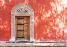 Zica修道院,中世纪门 图库摄影