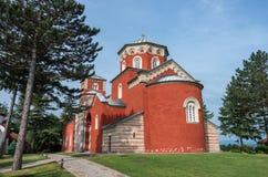 Zica monastery, Church of the Holy Dormition, 13th century Byzan stock photo