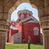 Zica monastery stock image