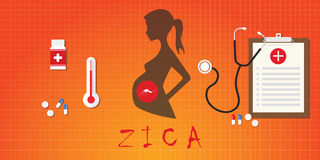 Zica virus pregnancy attack concept medicine vector Stock Photo