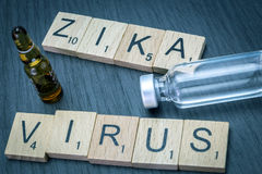 Zica virus, written in letters wood Royalty Free Stock Photography