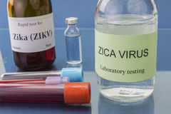 Zica virus, written in letters wood, concept health remedy Royalty Free Stock Images