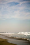 Zicatela beach and eagle in the sky Puerto Escondido Mexico Royalty Free Stock Photography