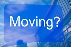 Zich naar huis het bewegen? Mogelijk embleem. Royalty-vrije Stock Afbeeldingen