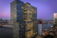 View from New Orleans Building Rotterdam stock photo