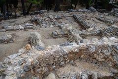zichtbare stichtingen van steengebouwen royalty-vrije stock foto