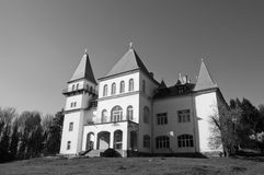 Zichy Castle( Poiana Florilor Castle). Image of a castle in the middle of the forest Royalty Free Stock Photography
