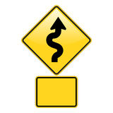 Zickzack-Straßen-WARNING Lizenzfreies Stockfoto