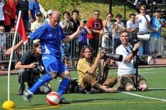 Zidane und Fotografen Stockfotos