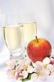 Zider und Apfel - Nochlebensdauer Stockfotos