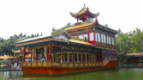 Zidong pleasure boat on the qingping lake at baomo garden, china Stock Photo