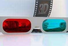 Zie door 3D glazen - abstracte film Royalty-vrije Stock Foto