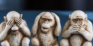 Zie geen kwaad, hoor geen kwaad, spreek, geen kwaad Stock Foto