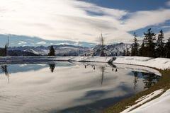 Zie in hol Alpen im Gastein Gebirge Stock Fotografie