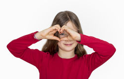 Zie met het hart Royalty-vrije Stock Foto's