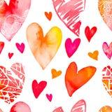 Zie mijn andere werken in portefeuille De dag van de valentijnskaart Vector Naadloos patroon Stock Foto