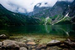 Zie oog Tatra moutains Stock Afbeeldingen
