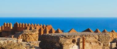 Zie van Alcazaba royalty-vrije stock afbeeldingen