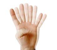 Zie vingers Royalty-vrije Stock Foto