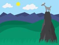 Ziege auf einem Berg stock abbildung