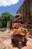 Ziegelbrockensatz in den Ruinen Stockbilder