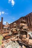 Ziegelbrockensatz in den Ruinen Stockbild