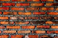 Ziegelstein auf Wand Stockfoto