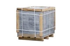 Ziegelstein in der Verpackung stockfotografie